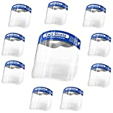 BIGTREE 10 Pack Full Face Shield Transparent Clear