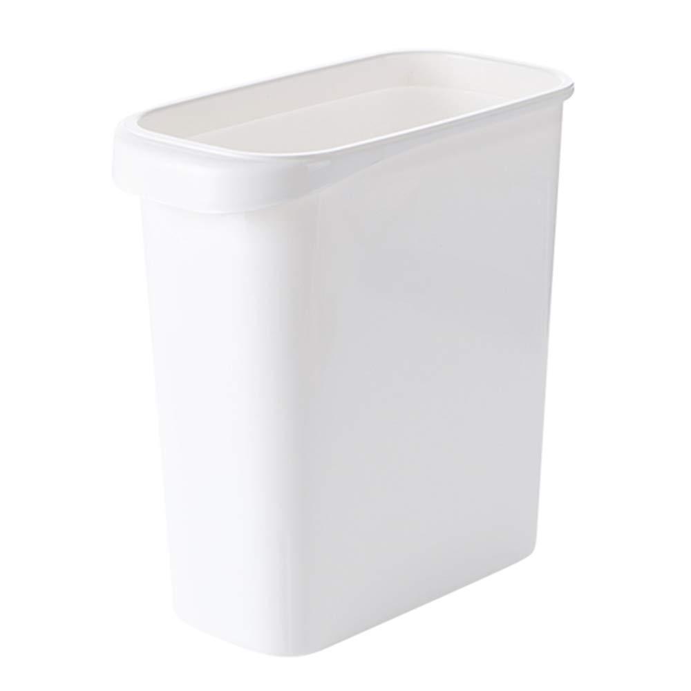 TRASH CAN Bote de Basura con Anillo de presión, Papel pequeña Canasta de Papel presión, colocada en una Ranura Estrecha, Cubo de Basura de Cocina sin Tapa d190c5