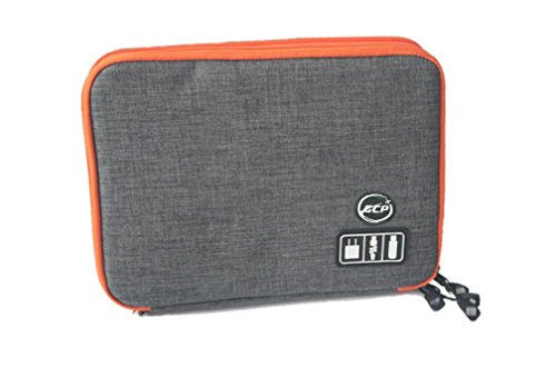 GCP Double Layers Multi-functional Portable Digital Travel Carrying Case Electronics Organizer for Electronics