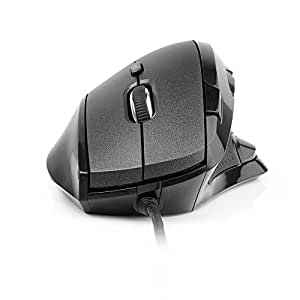 aLLreLi M910BU Vertical Mouse (60 Degree) with 9 Programmable Buttons, Adjustable DPI up to 4000 DPI, 5 User Profiles
