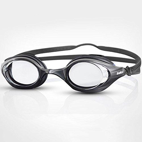 Lunettes de natation plates de course professionnelle étanche lunettes anti-buée HD résistant à l'usure