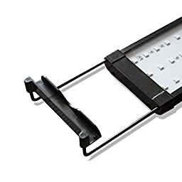 Barrina Dimmable LED Aquarium Hood Lighting Fish Tank Light Color Changing Remote Controlled for Freshwater and Saltwater, 48 inches