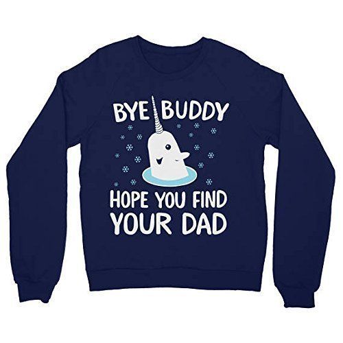 ugly christmas sweater women men unisex sweatshirt bye buddy elf the movie narwhal - Buddy The Elf Christmas Sweater