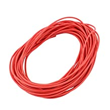 uxcell® 8M 22AWG 3KV Electric Copper Core Flexible Silicone Wire Cable Red for RC