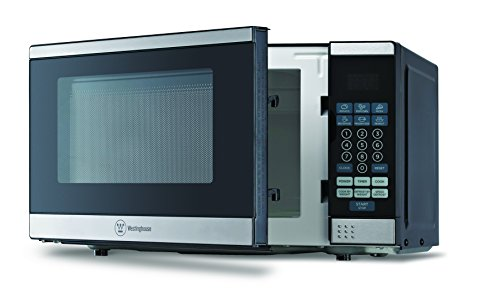 Westinghouse WCM770SS 700 Watt Counter Top Microwave Oven, 0.7Cubic Feet, Stainless Steel Front, Black - Camping Microwave