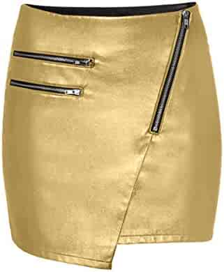 a748babe43 Luxury Genuine Leather Custom Made Lady Front Diagonal Zip Office Lady Club  Mini Skirt #S24