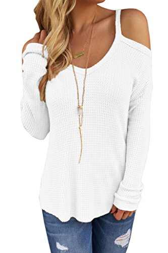 HOTAPEI Womens Pullover Sweater Shouder