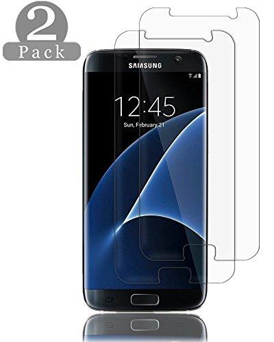 Linboll Galaxy S7 Displayschutz [2.5D Arc][9H Härte][Anti-Fingerprint][High-Definition] Glas Displayschutz für Samsung Galaxy S7-2 Pack