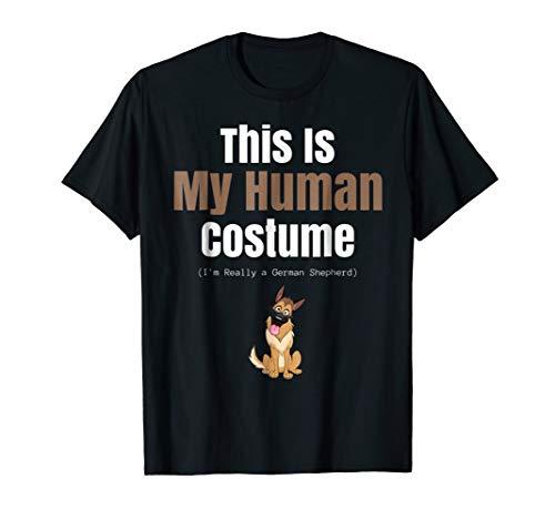 Funny German Shepherd Halloween T Shirt for Costume Parties -
