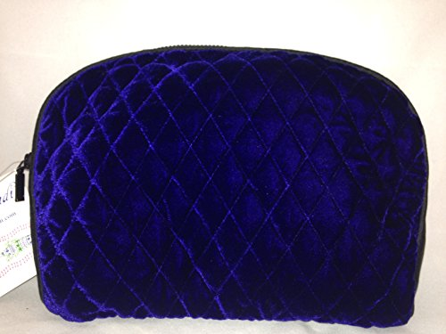 (Travel Quilted French Blue Cosmetic Bag)