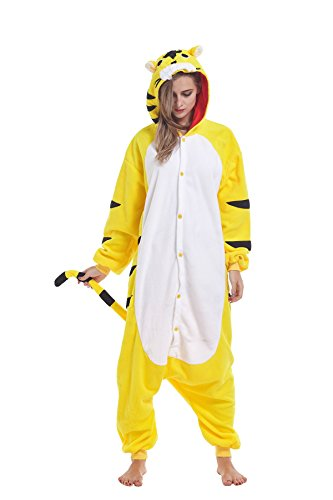 Ifboxs Halloween Lion Tiger Fox Pajamas Homewear Onesie Cosplay Costumes (Awesome Family Halloween Costumes)