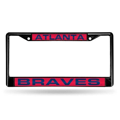 - Rico Atlanta Braves Official MLB 12 inch x 6 inch Laser Chrome License Plate Frame by 846893