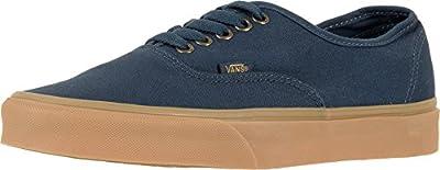 Vans - Unisex-Adult Authentic Shoes, Size: 3.5 D(M) US Mens / 5 B(M) US Womens, Color: (Light Gum) Dress Blues