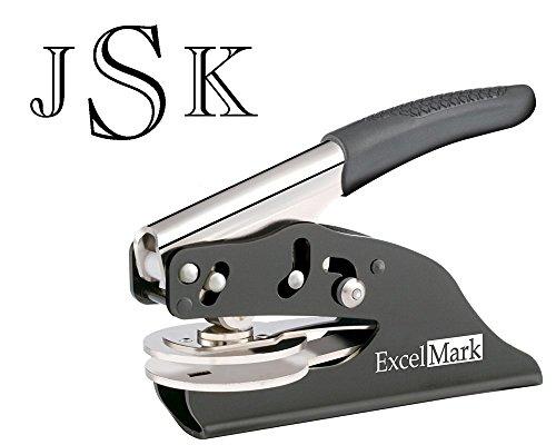 (ExcelMark Personal Monogram Embosser - Hand Held - Style 23)
