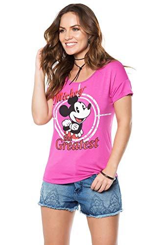 Blusa Disney Adulta De Manga Curta Estampa Personagens