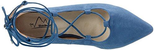Hirschkogel Signore 3123400 Chiusi Ballerine Blu (jeans)