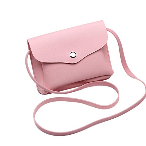 Handbag PU Coin Shoulder Concise Small Pink Women Coin Bag Pouch Crossbody Purse Leather Phone Organizer Card Holder Wallet wFdxAqt