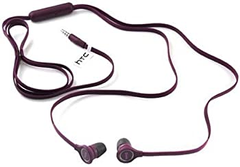 HTC Original OEM RC E190 3.5mm Hands-Free Earbuds Bulk Packaging - Purple