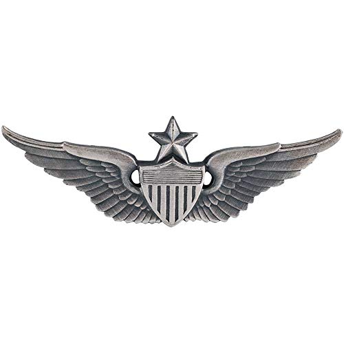 Medals of America Army Senior Aviator Badge Silver Oxide Regulation Size Full Size