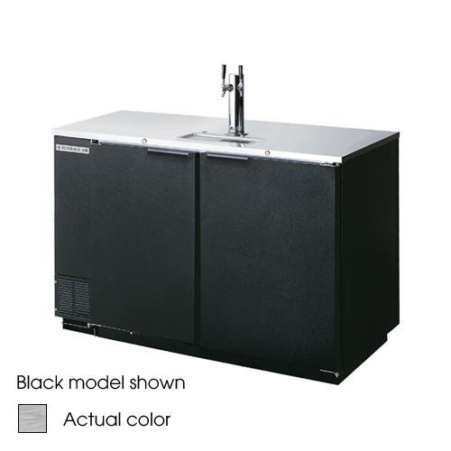 """Beverage-Air DD50-1-S 50"""" 2-Tap Stainless Steel Finish Be..."""