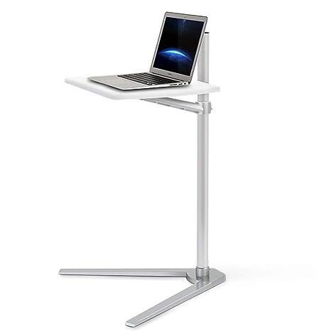 DPS&RXX Basculante móvil portátil Ordenador Escritorio Carrito con Tapa del tapón, Mesa de Cama portátil