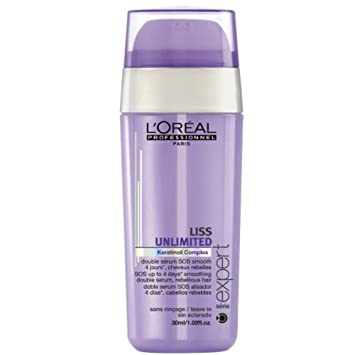 9dfbc1855 Image Unavailable. Image not available for. Color: L'Oreal Professionnel  Serie Expert Liss Unlimited Sos Smoothing Double Serum ...