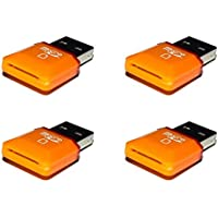 4 x Quantity of Hubsan X4 H107D USB 2.0 Micro SD SDHC TF Memory Card Reader Adapter Hi-Speed up to 32GB Orange