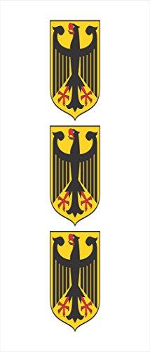 3 -German Germany Coat of Arms Flag Hard Hat Biker Motorcycle Helmet iPhone Stickers Decal