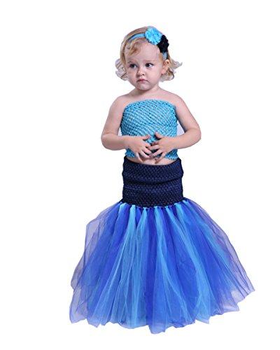 Princess Mermaid Costumes or Girl Kids Fancy Party Dress Up Halloween Costume (Mermaid Costume Party City)