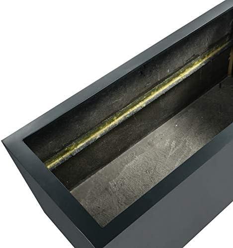 Pflanzkübelonline Macetero Fiber Plus Box Antracita rectangular de fibra de vidrio: Amazon.es: Jardín