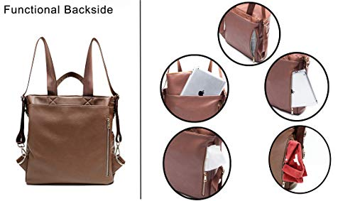 7151bbcafd21 Leather Diaper Bag Backpack by MF Store, Diaper Backpack with Laptop  Sleeve,Changing Pad