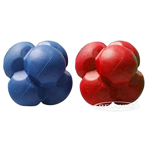Relaxus Reaction Ball Agility & Coordination Trainer fro Sport, Rehab or Excercise. 1 Ball 3'' x 3'' by Relaxus