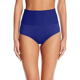 Trina Turk Women's High Waist Roll Up Hipster Bikini Swimsuit Bottom, Ultramarine//Getaway Solids, 8
