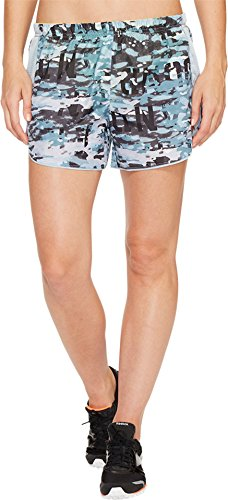 Reebok Women's Running Essentials 4in Woven Shorts Printed Gable Grey (Reebok Elastic Waist Shorts)