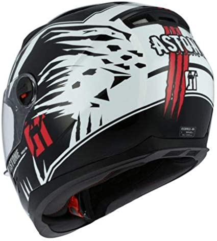 Black//white XL Astone Helmets Casque int/égral GT2 Graphic Predator Casque int/égral en polycarbonate Casque id/éal milieu urbain