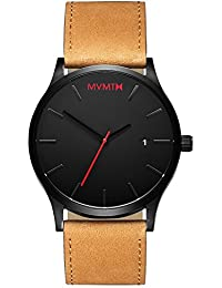 CLASSIC Watches | 45 MM Mens Analog Minimalist Watch | Black Tan
