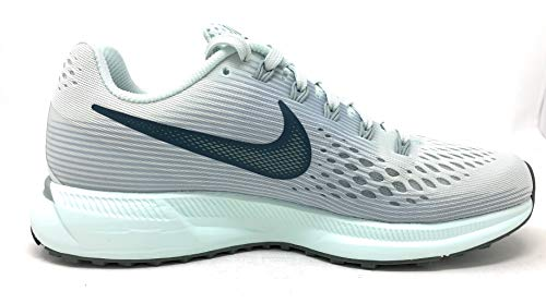 Nike Womens Air Zoom Pegasus 34 Low Top Lace Up Running Sneaker (Barely Grey/Deep Jungle, 5 M US) by Nike (Image #3)