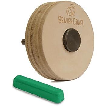 Amazon Com Beavercraft Pw1 Sharpening Wheel Stropping 3