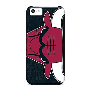 Scratch Protection Cell-phone Hard Covers For Iphone 5c With Allow Personal Design Colorful Chicago Bulls Skin IanJoeyPatricia