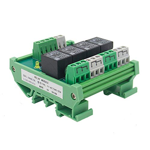 SPDT DIN Rail Mount 12V 24V DC/AC Interface Relay Module (FY-T734-24VACDC) (12v Ac Spdt Relay)