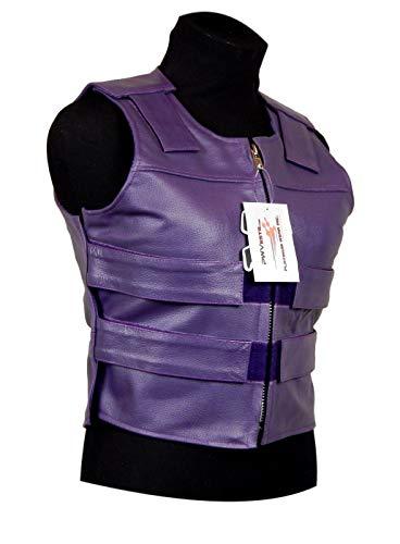 Purple Leather - Ladies Bulletproof Style Motorcycle Vest (4XL)
