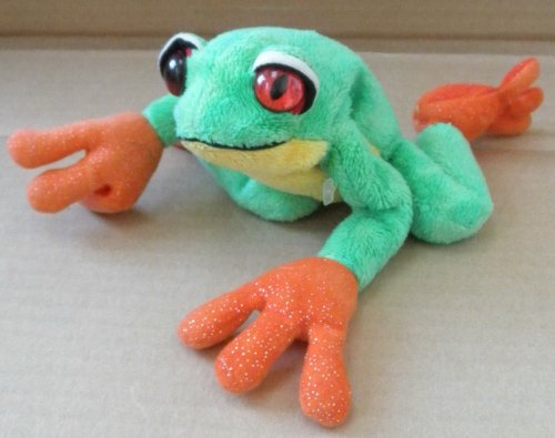 TY Beanie Babies Panama the Frog Stuffed Animal Plush Toy - 9 inches long from ty