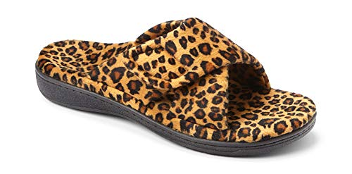 - Vionic Women's Relax Slipper, Tan Leopard, 9 M