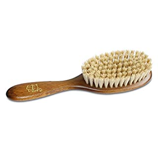 """Mars Boar Bristle Cat Hair Brush, Made in Germany, 3/4"""" Bristles and 2"""" Wide Head"""