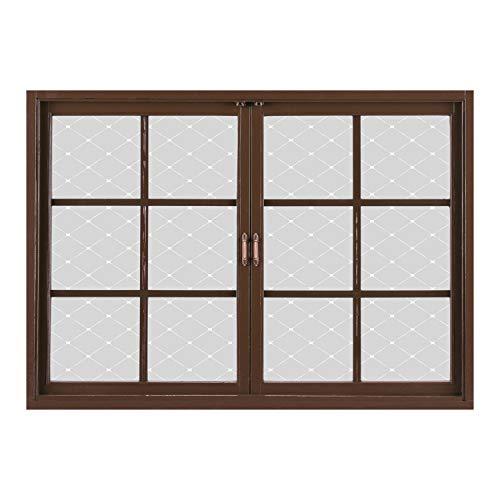 SCOCICI Window Mural Wall Sticker/Geometric,Symmetrical Squares with Linked
