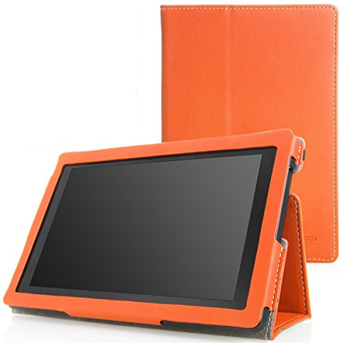 MoKo Case for Amazon Kindle Fire HD 7 2013 - Slim Folding Cover Case for Fire HD 7.0 Inch 3rd Generation Tablet, ORANGE (With Smart Cover Auto Wake / Sleep.)