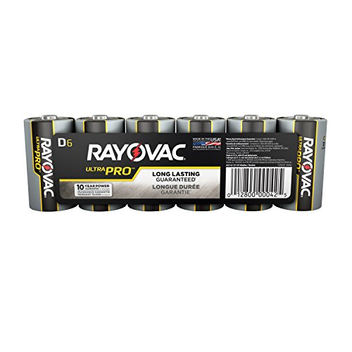 Rayovac UltraPro Alkaline D Batteries, 6-Pack (ALD-6)