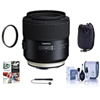 Tamron SP 85mm F/1.8 Di VC USD Lens for Sony - Bundle With 67mm UV Filter, Cleaning Kit, Lens Pouch, Capleash II, Pc Software Package