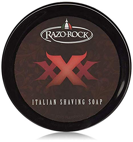 RazoRock XXX Italian Shaving Soap: Artisan Made Shaving Soap for Men - Tallow Based Shave Cream Soap for Wet Shaving - Rich, Creamy Lather and Classic Italian Barber Shop Scent ()