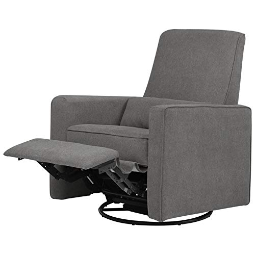 DaVinci Piper Upholstered Recliner and Swivel Glider, Dark Grey